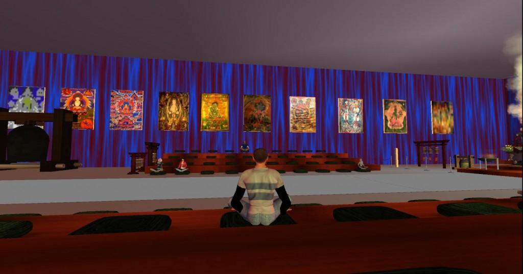 sitting in compassion meditation
